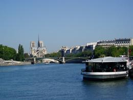 Looking back down the Seine as we cruise towards the canals and the old parts of Paris., Anita M - August 2009