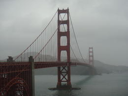 a wet day at the Golden Gate bridge , Andrew S - March 2011