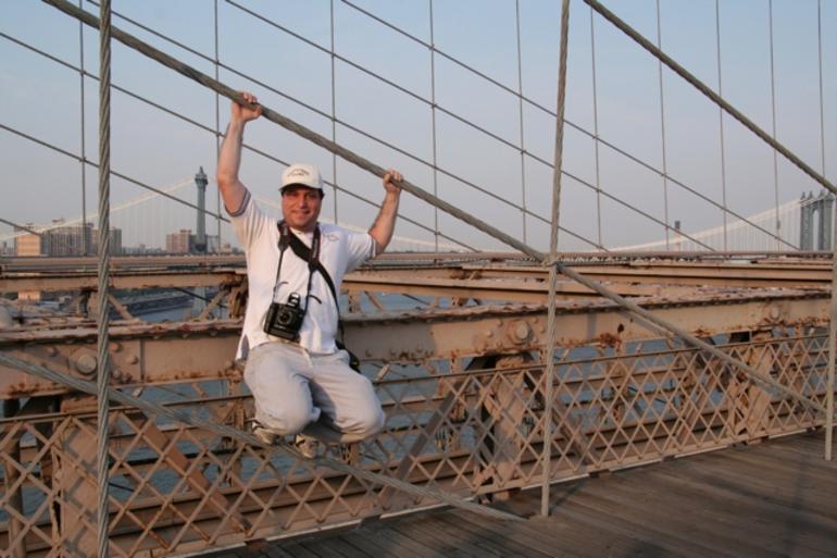Holding onto the Bridge - New York City