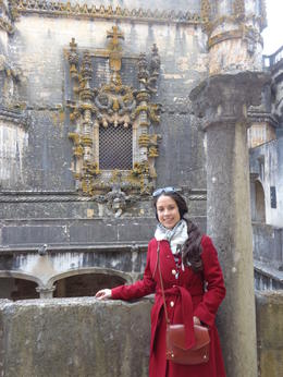 Famous Manueline style window at Convent of Christ, Tomar. , Claudia A - April 2014