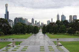 A view back to the CBD from the War Memorial , Russell T - January 2015