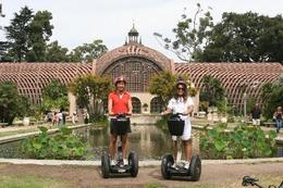 Enjoying the beautiful gardens from our segways! - December 2009