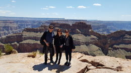 This is our first family pic at the magnificent Eagle Point of the Grand Canyon! , Lauro C - June 2016