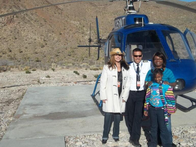 With our pilot and new friends - Las Vegas