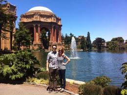 At the Palace of Fine Arts. We just parked our car and took a quick walk. It was easy to see everything quickly., KellyD - June 2012