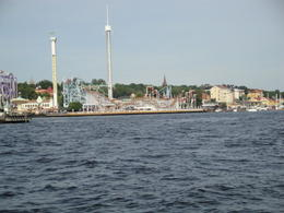 The largest and oldest amusement park in Stockholm as seen from the water. , Julie A - July 2011