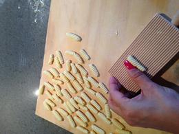 Learning how to roll cavatelli , Michelle W - January 2015