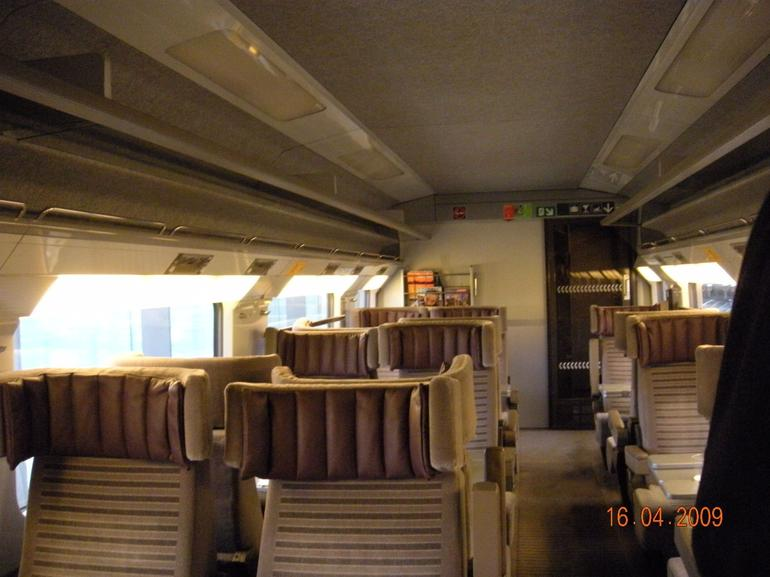 Inside Eurostar - Paris