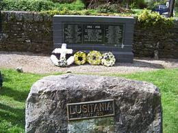 one of the Lusitania graves in a cemetery in Cork , Susan G - May 2011