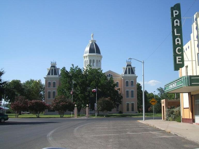 Marfa CIty Hall and the Palace - Texas