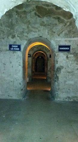 Looking down a vast hallway of the Mumm cellars , Michal O - June 2015