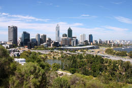 View of Perth from King's Park - May 2011