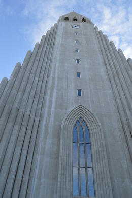 Church tower on Reykjavik tour. , Cherie B - April 2014