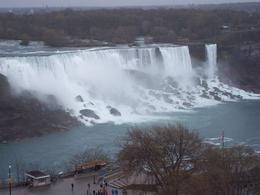 The falls on the American side of Niagra - amazing power , Nic G - May 2012