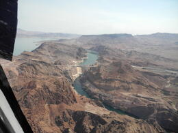 flying over The Hoover Dam and Colarado River , Londa L - August 2013