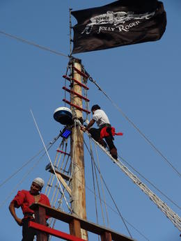 The Jolly Roger flag. , Otilia M - June 2014