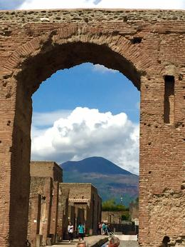 View of Mount vesuvius from the archaeological site! , Ding, M - September 2016