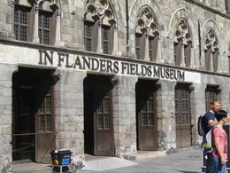 The museum in Grote Markt Square in Ypres Ieper. , Brian W - October 2015