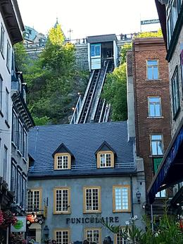 Funicular from lower old Quebec to upper new Quebec. , Sharon G - September 2017
