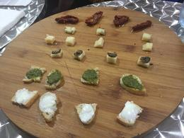 Cheese cheese and more cheese! Pesto, truffle, sundried tomatoes, etc as well. , Brittney D - October 2016
