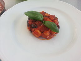 This was my appetizer made with Sicilian eggplant. , gracie h - May 2016