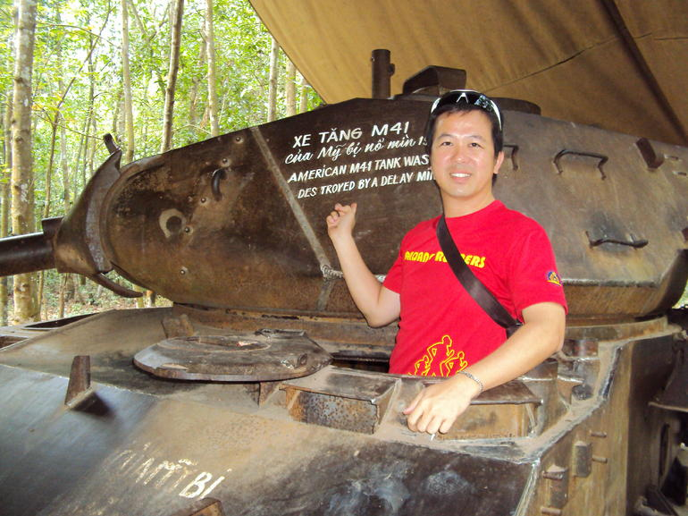 Destroyed tank, Cu Chi Tunnels tour - Ho Chi Minh City