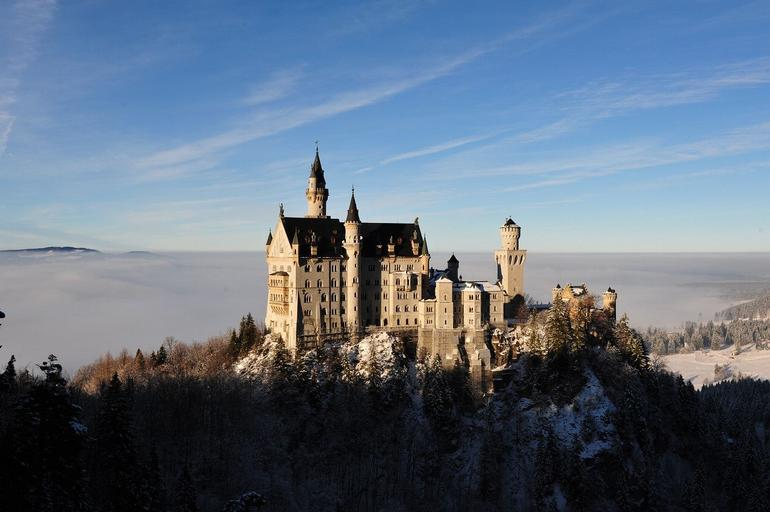 From Marien Bridge viewing Royal Castles of Neuschwanstein - Munich