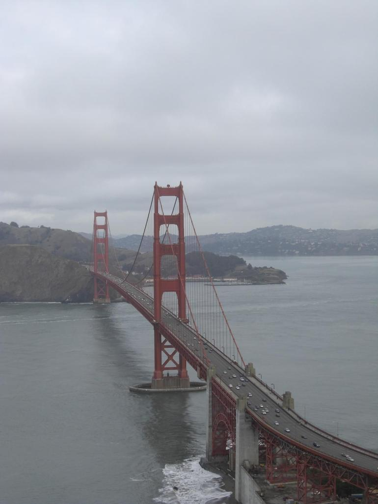 Golden Gate Bridge - end view - San Francisco