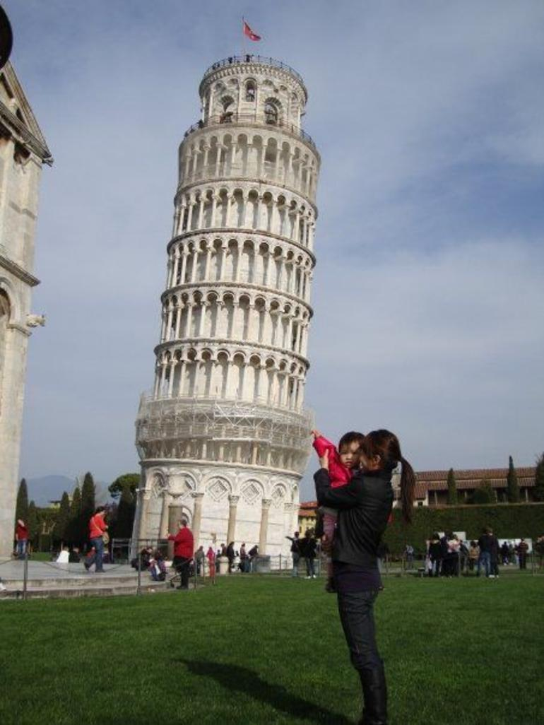 Holding up Pisa Tower -