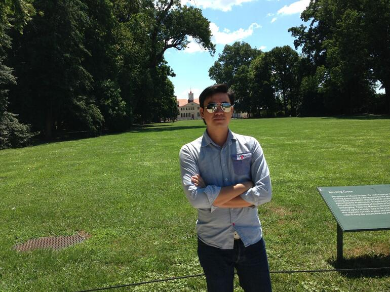In front of Mount Vernon - Washington DC