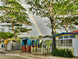 This rainbow was captured outside of canoe bar on the cliffs , Ronald S - January 2013