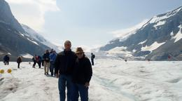 Dad and me on the Athabasca Glacier. , Robert H - July 2017