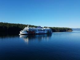 The ferry that the bus takes from Vancouver to Vancouver Island 1.5 hrs. , Jennifer S - September 2017