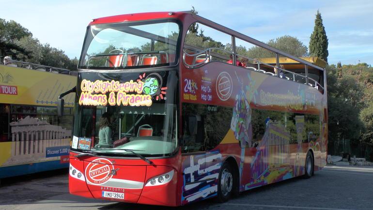 Blue line tour bus (Piraeus to Athens Acropolis) - Athens