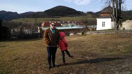 My daughter and I outside the former imperial hunting lodge. , Lucinda C - March 2014