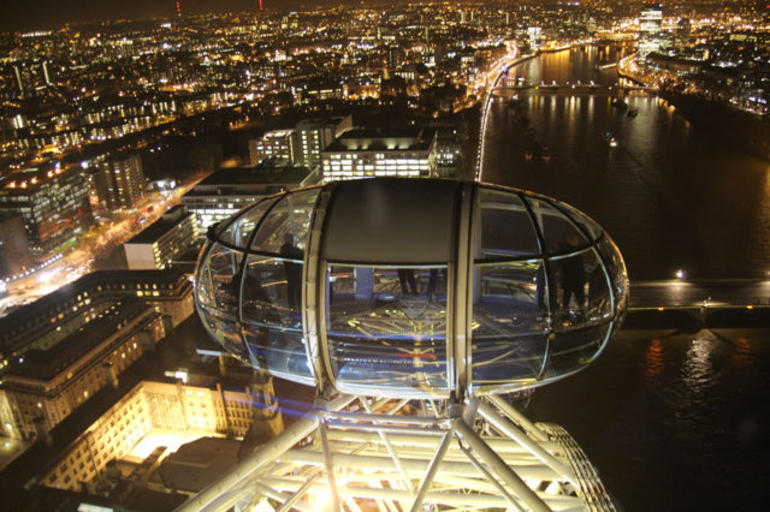 London Eye Capsule at Night -