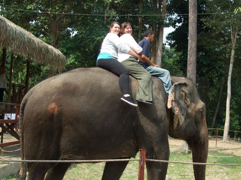 Riding an elephant - Kuala Lumpur