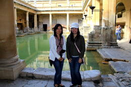 Me and my friend down the Roman Bath , CECILE - September 2011