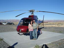 Kenneth and Carla, pre-flight. Just before take off from Grand Canyon to return to Las Vegas. - March 2009