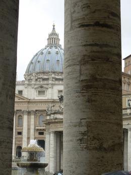 The Vatican shot through Bernini's columns, Rome, Cheryl N - June 2010