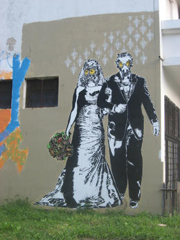 Graffiti wedding., Bandit - October 2012
