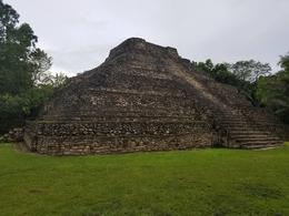 Here is a lower ceremonial Temple at Chacchoben , Jw S - August 2017