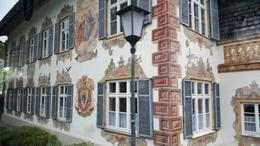 This is one of the building facades of Oberammergau. A darling town. , Beverly B - September 2017