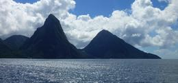 The Pitons, whilst approaching Soufriere , John P - December 2017