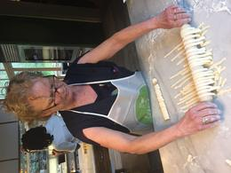One of the guests making their own pasta. , Louise R - January 2018