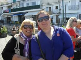 Mum and i waiting for our tour to begin in Capri , Roshy - January 2018