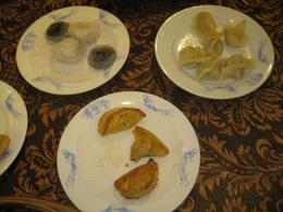There were all different kinds of dumplings that they served us - May 2012