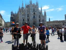 Maria and Leigh Mansell and Paul and Lorraine Alston in front of the Duomo in Milan , Maria M - May 2014