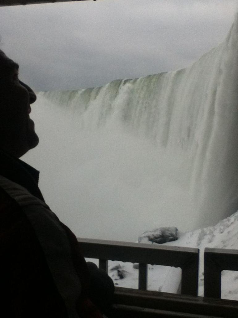 Enjoying the cold, wet view - Niagara Falls & Around