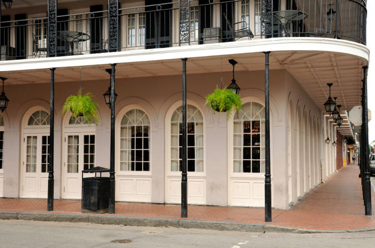 French Quarter, New Orleans building, Bourbon Street - New Orleans